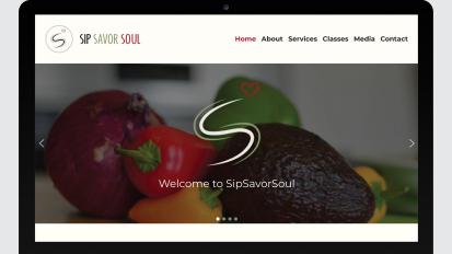 SipSavorSoul Website